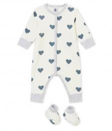 Набор для новорожденного  махровая пижама и пинетки 595a24c17a140